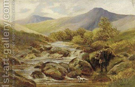 In the Highlands by H.D. Hillier - Reproduction Oil Painting
