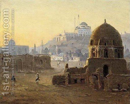 Mosques in Cairo, Egypt by Hans Gross - Reproduction Oil Painting