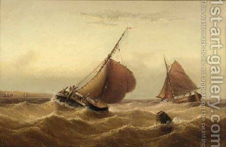 Shipping in a swell by Henry Moore - Reproduction Oil Painting