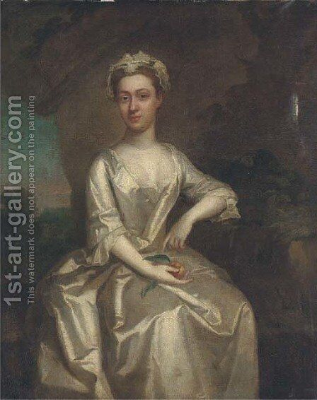 Portrait of a lady by Hamlet Winstanley - Reproduction Oil Painting