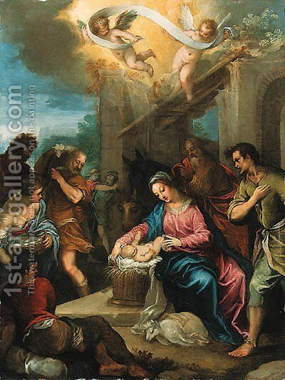 The Adoration of the Shepherds by Hans I Rottenhammer - Reproduction Oil Painting