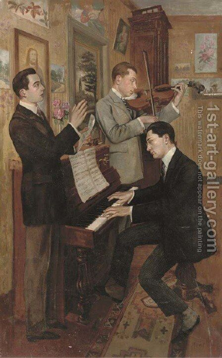 The concert by Hans Temple - Reproduction Oil Painting
