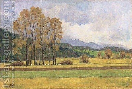 Before the forest by Hans Thoma - Reproduction Oil Painting