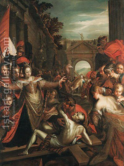 The Finding of the True Cross by Hans Von Aachen - Reproduction Oil Painting