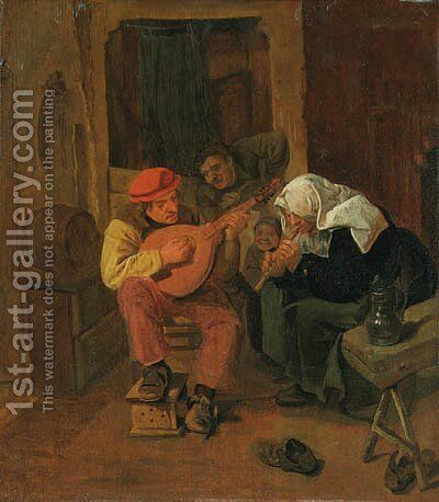Peasants making Music in an Interior by Harmen Fransz. Hals - Reproduction Oil Painting
