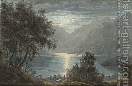 The upper part of Ullswater from Lyulph's Tower by Harriet Cheney - Reproduction Oil Painting