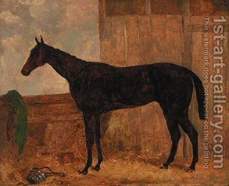Lord Elington's van Tromp, in a stable by Harry Hall - Reproduction Oil Painting