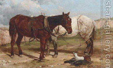 The plough team by Harry Hall - Reproduction Oil Painting