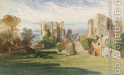 A view of Kenilworth Castle, Warwickshire, from the tiltyard by Harry John Johnson - Reproduction Oil Painting