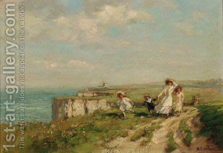 On the Margate Cliffs, near Kingsgate by Harry Mitten Wilson - Reproduction Oil Painting