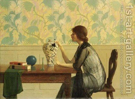The Broken Vase by Harry Willson Watrous - Reproduction Oil Painting