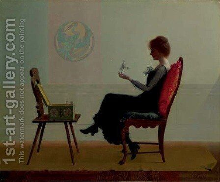 The Suitors by Harry Willson Watrous - Reproduction Oil Painting