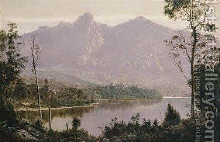 Mount Olympus and Mount Marion, Tasmania by H. Forrest - Reproduction Oil Painting