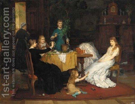 The Bridal Shower by Heinrich Burckhardt - Reproduction Oil Painting