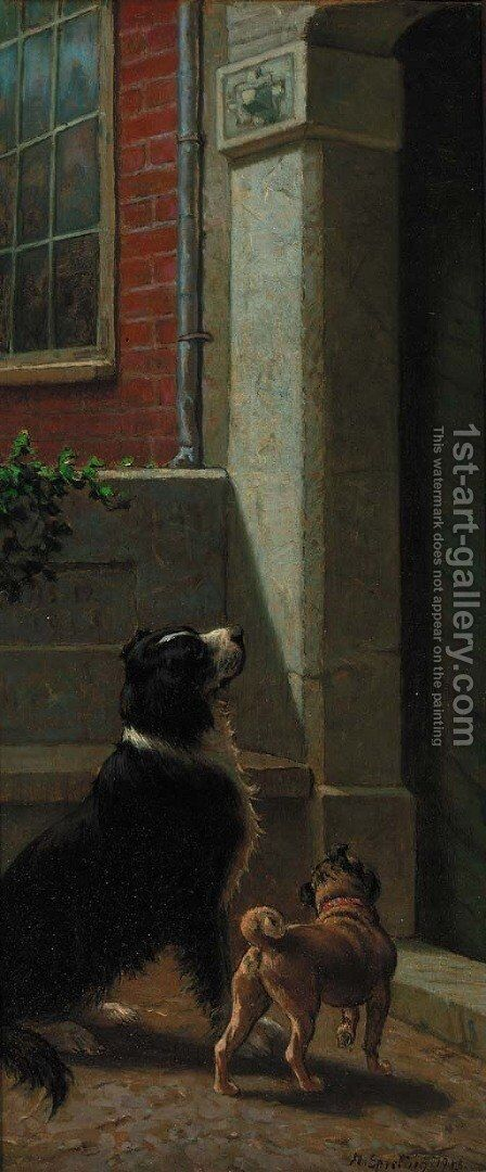 Waiting for master by Heinrich Sperling - Reproduction Oil Painting