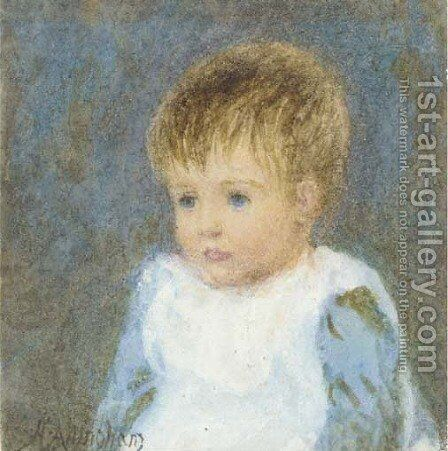 Portrait of a child by Helen Mary Elizabeth Allingham, R.W.S. - Reproduction Oil Painting