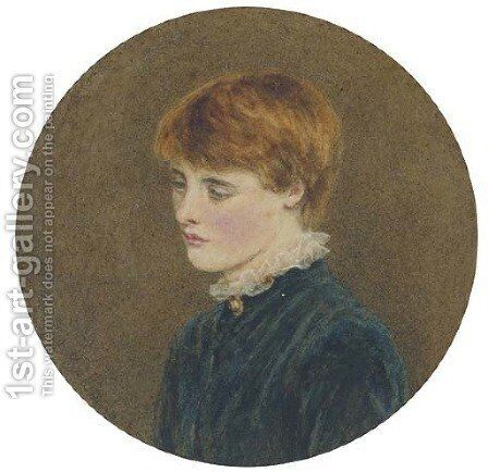 Portrait of a young man by Helen Mary Elizabeth Allingham, R.W.S. - Reproduction Oil Painting