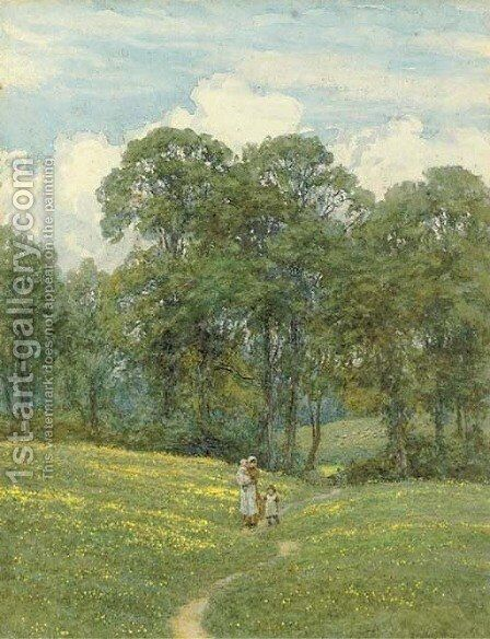 Returning home on a summer's day by Helen Mary Elizabeth Allingham, R.W.S. - Reproduction Oil Painting