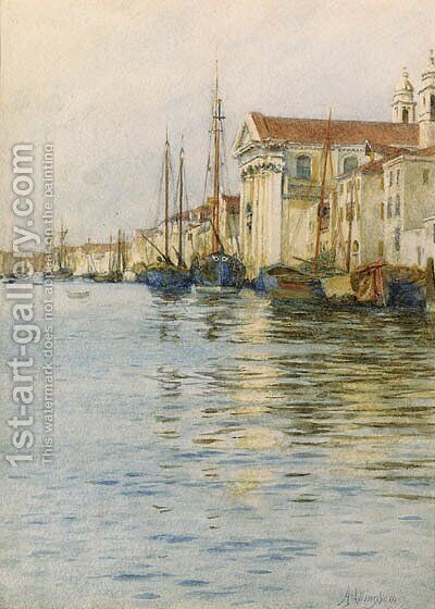 The Gesuati Church, on the Zattere, Venice, Italy by Helen Mary Elizabeth Allingham, R.W.S. - Reproduction Oil Painting