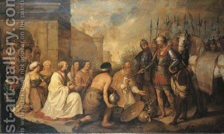 The Meeting of Pope Leo the Great and Attila by Hendrick Bloemaert - Reproduction Oil Painting