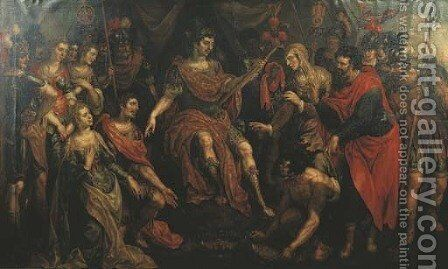 The Continence of Scipio 2 by Hendrick De Clerck - Reproduction Oil Painting