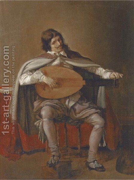 The Lute Player by Hendrick Gerritsz Pot - Reproduction Oil Painting