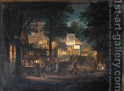 A fair by night by Hendrik Gerrit ten Cate - Reproduction Oil Painting