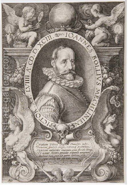 Hans Bol by Hendrick Goltzius - Reproduction Oil Painting