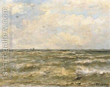 On open water by Hendrik Willem Mesdag - Reproduction Oil Painting