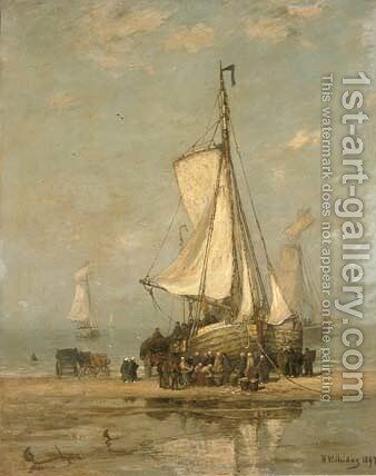 Sorting the day's catch by Hendrik Willem Mesdag - Reproduction Oil Painting