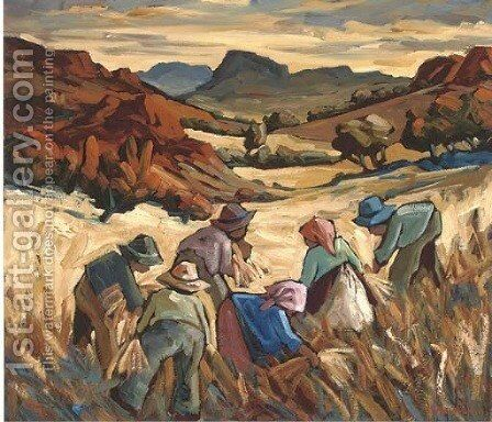 The harvesters by Edward H. Niemann - Reproduction Oil Painting