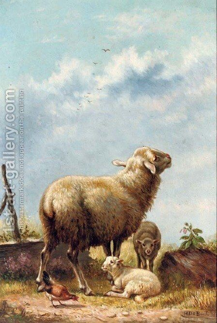 In the pasture by Henri De Beul - Reproduction Oil Painting