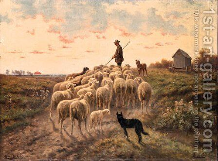 Shepherding the Flock by Henri De Beul - Reproduction Oil Painting
