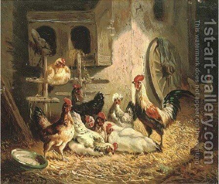 The chicken coup by Henri De Beul - Reproduction Oil Painting