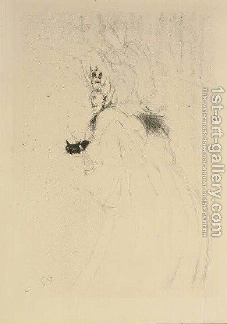 Miss May Belfort saluant by Toulouse-Lautrec - Reproduction Oil Painting