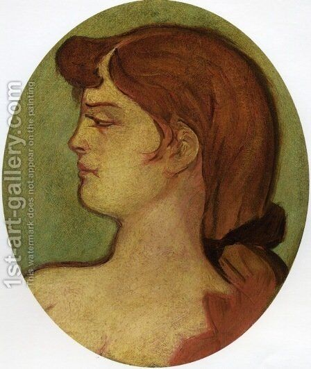 Portrait de femme de la maison de la rue d'amboise by Toulouse-Lautrec - Reproduction Oil Painting