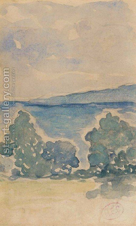Paysage by Henri Edmond Cross - Reproduction Oil Painting