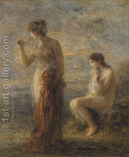 Deux baigneuses by Ignace Henri Jean Fantin-Latour - Reproduction Oil Painting