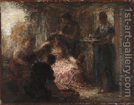La toilette 2 by Ignace Henri Jean Fantin-Latour - Reproduction Oil Painting