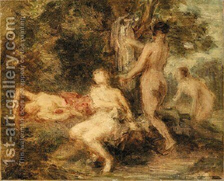 Baigneuses by Ignace Henri Jean Fantin-Latour - Reproduction Oil Painting