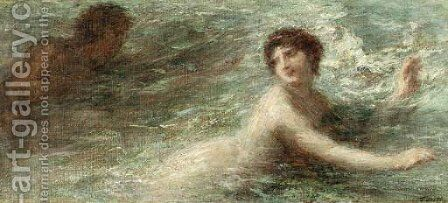 Naiade poursuivie par un Triton by Ignace Henri Jean Fantin-Latour - Reproduction Oil Painting