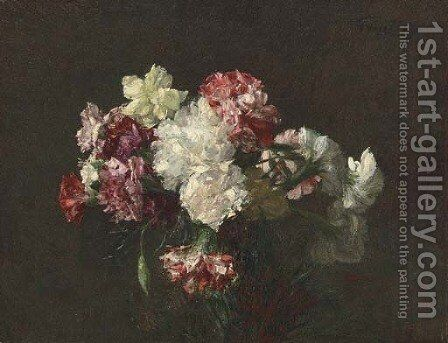Oeillets by Ignace Henri Jean Fantin-Latour - Reproduction Oil Painting