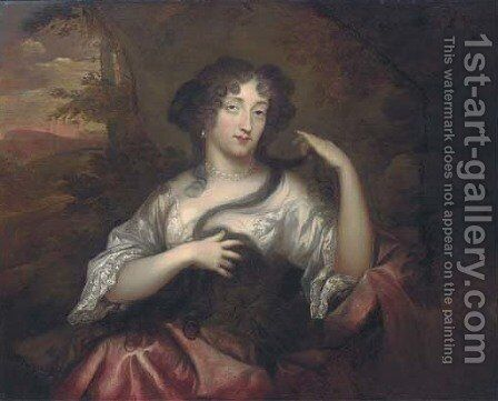 Portrait of Hortense Mancini, Duchess of Mazarin by Henri Gascars - Reproduction Oil Painting