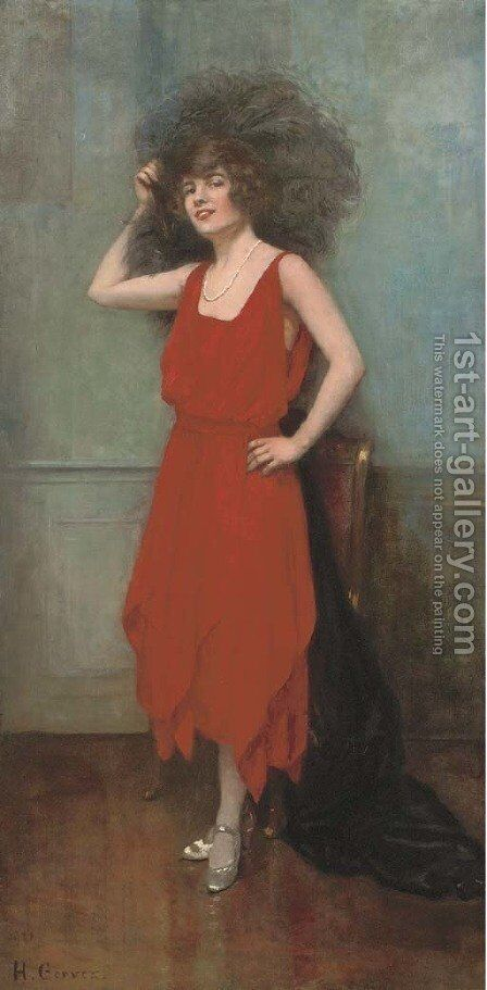 La robe rouge by Henri Gervex - Reproduction Oil Painting