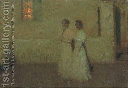 Nuit douce by Henri Eugene Augustin Le Sidaner - Reproduction Oil Painting