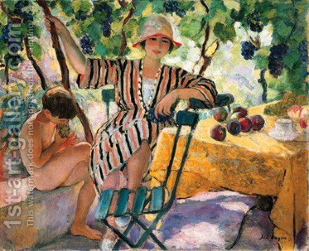 Au jardin en ete, Saint-Tropez by Henri Lebasque - Reproduction Oil Painting