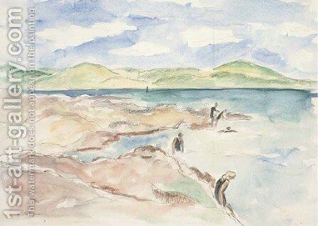 Baigneuses sur la plage by Henri Lebasque - Reproduction Oil Painting