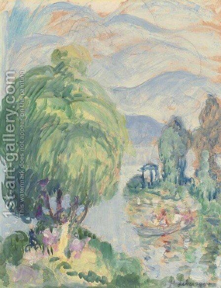 Bord de la riviere by Henri Lebasque - Reproduction Oil Painting