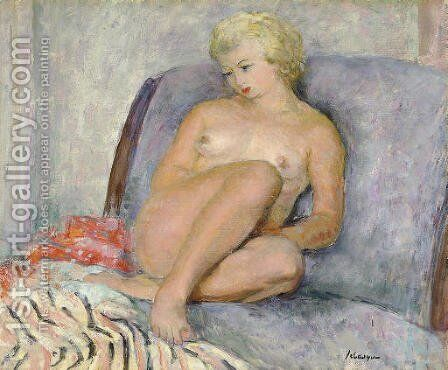 Femme nue by Henri Lebasque - Reproduction Oil Painting