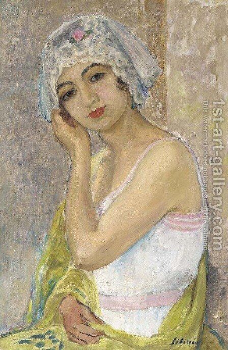 Jeune femme assise by Henri Lebasque - Reproduction Oil Painting